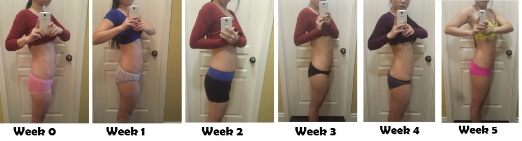 Week 0 to Week 5 Progress Pic