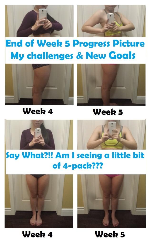 Week 4 to Week 5 progress pic FB